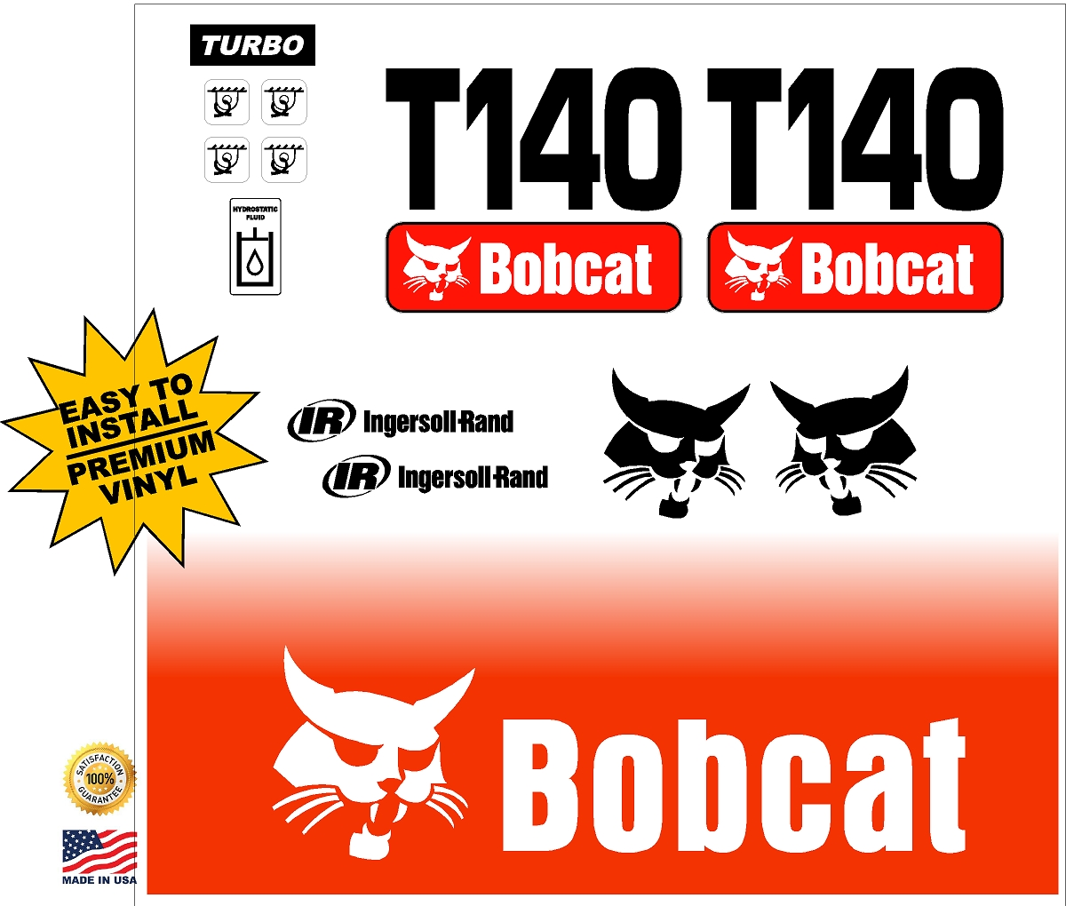 Decal Kits Product : Bobcat t replacement decal kit machine decals
