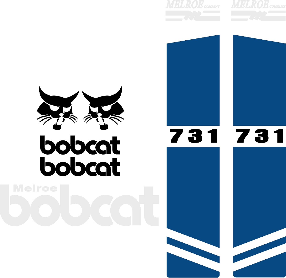 Decal Kits Product : Bobcat replacement decal kit