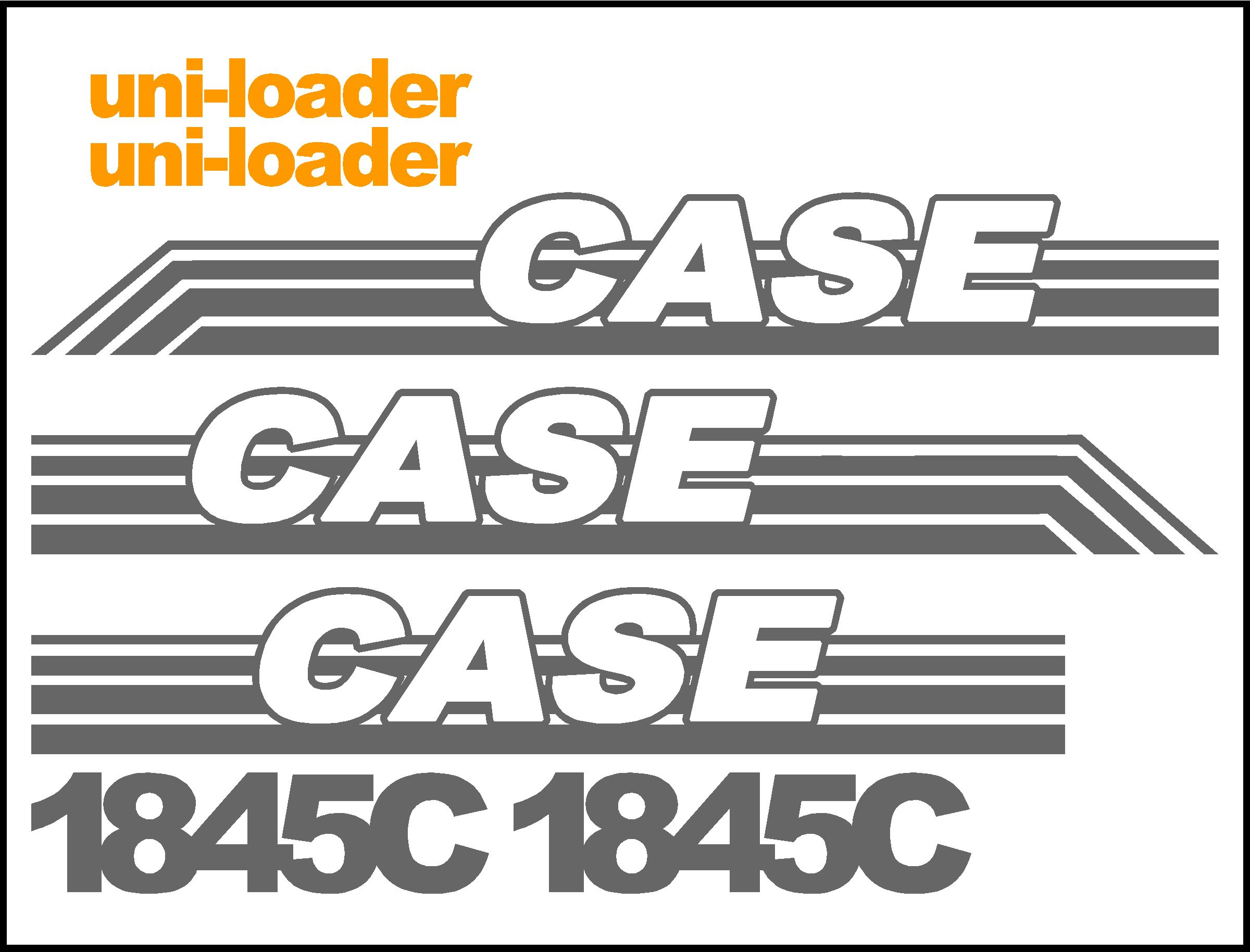 7250 Case Decal Kits : Case c uni loader replacement decal kit