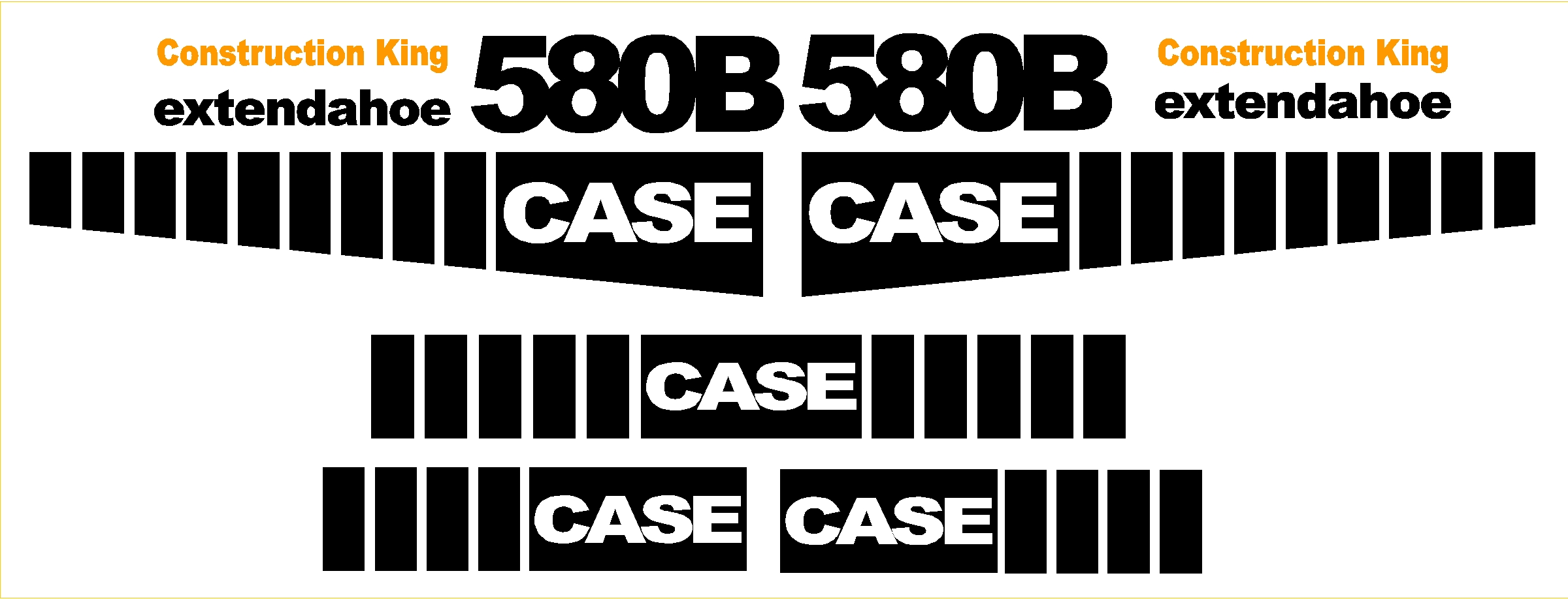 7250 Case Decal Kits : Case b new replacement decal kit machine decals