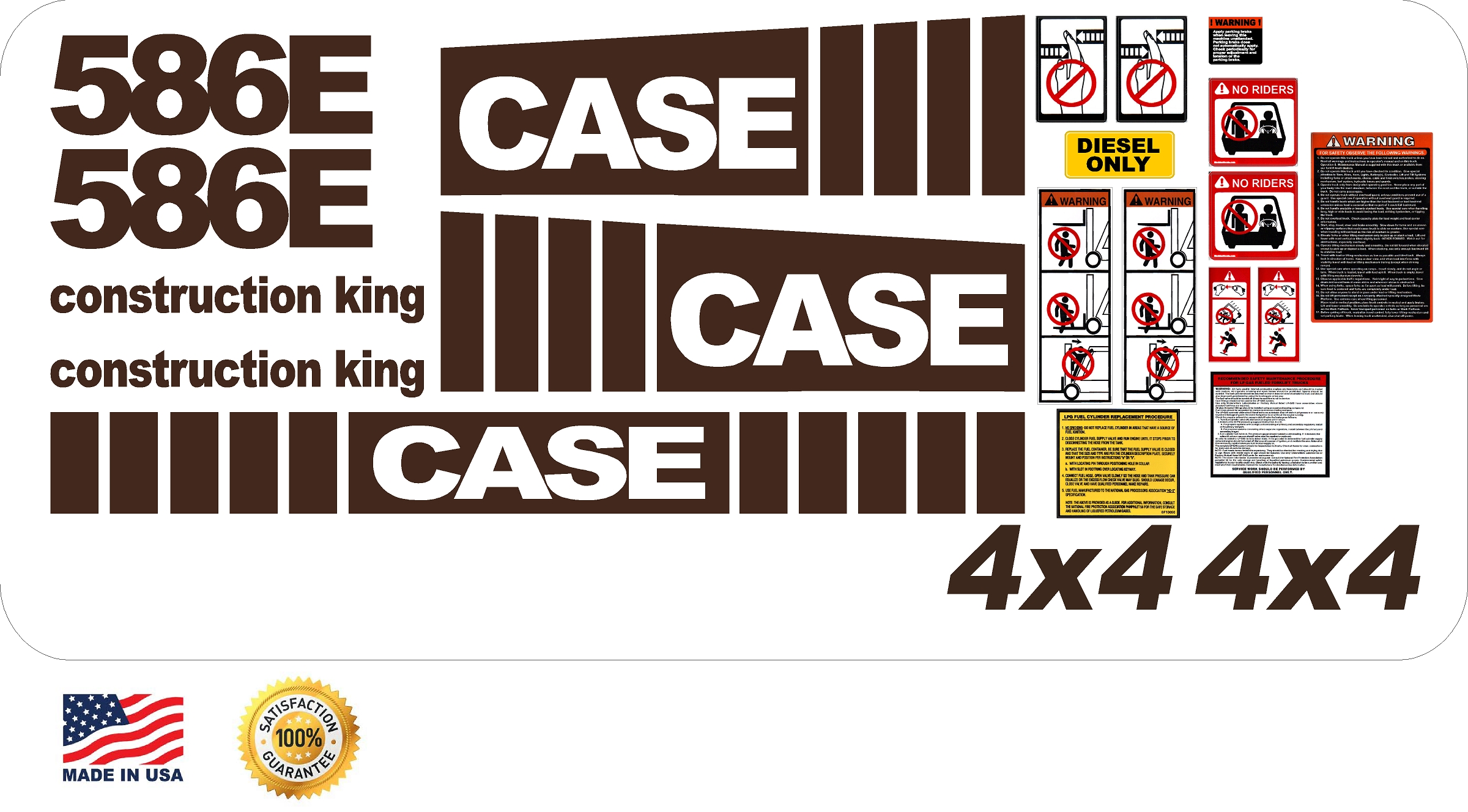 7250 Case Decal Kits : Case e lift new replacement decal kit