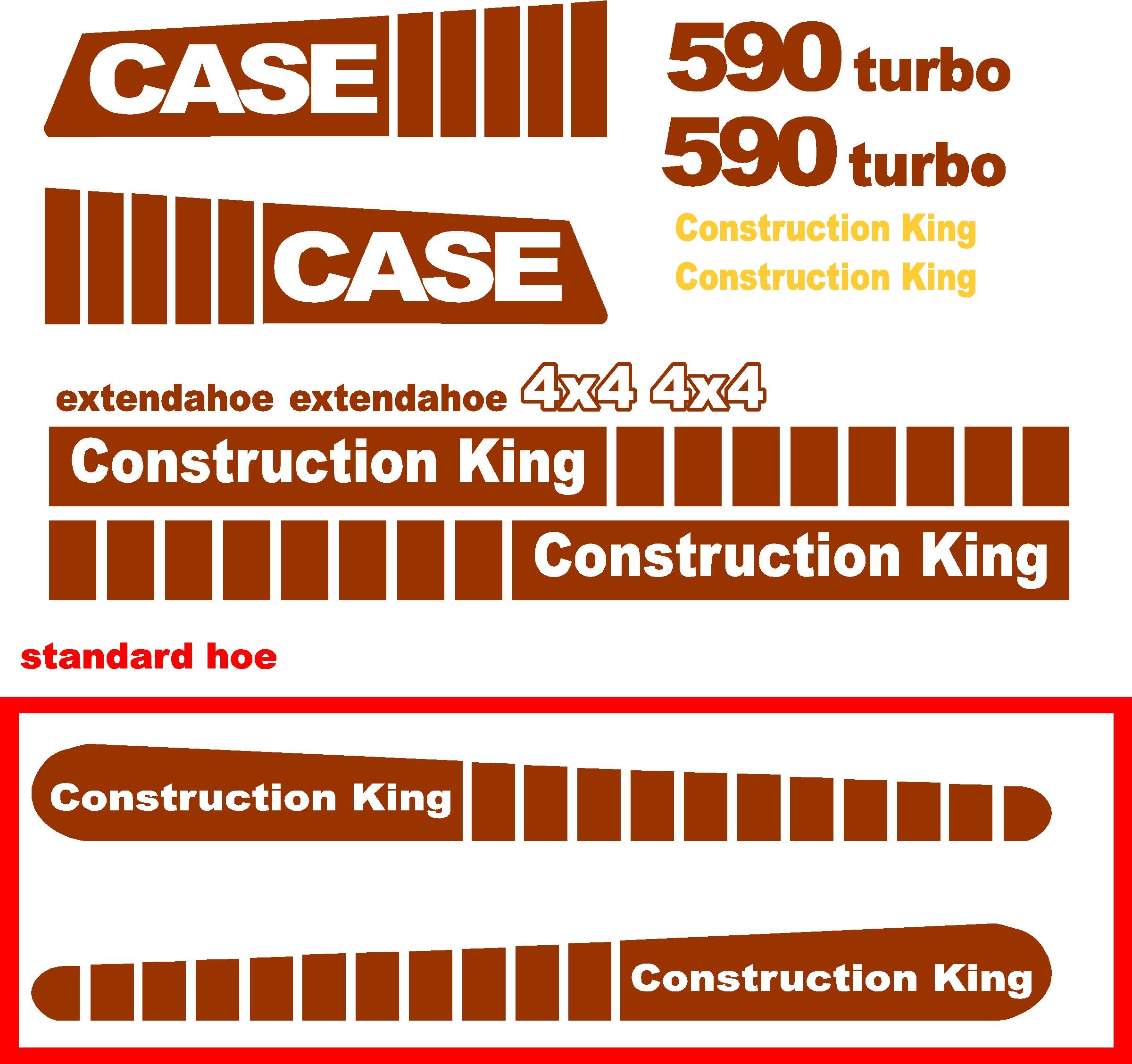 7250 Case Decal Kits : Case turbo extendahoe new replacement decal kit