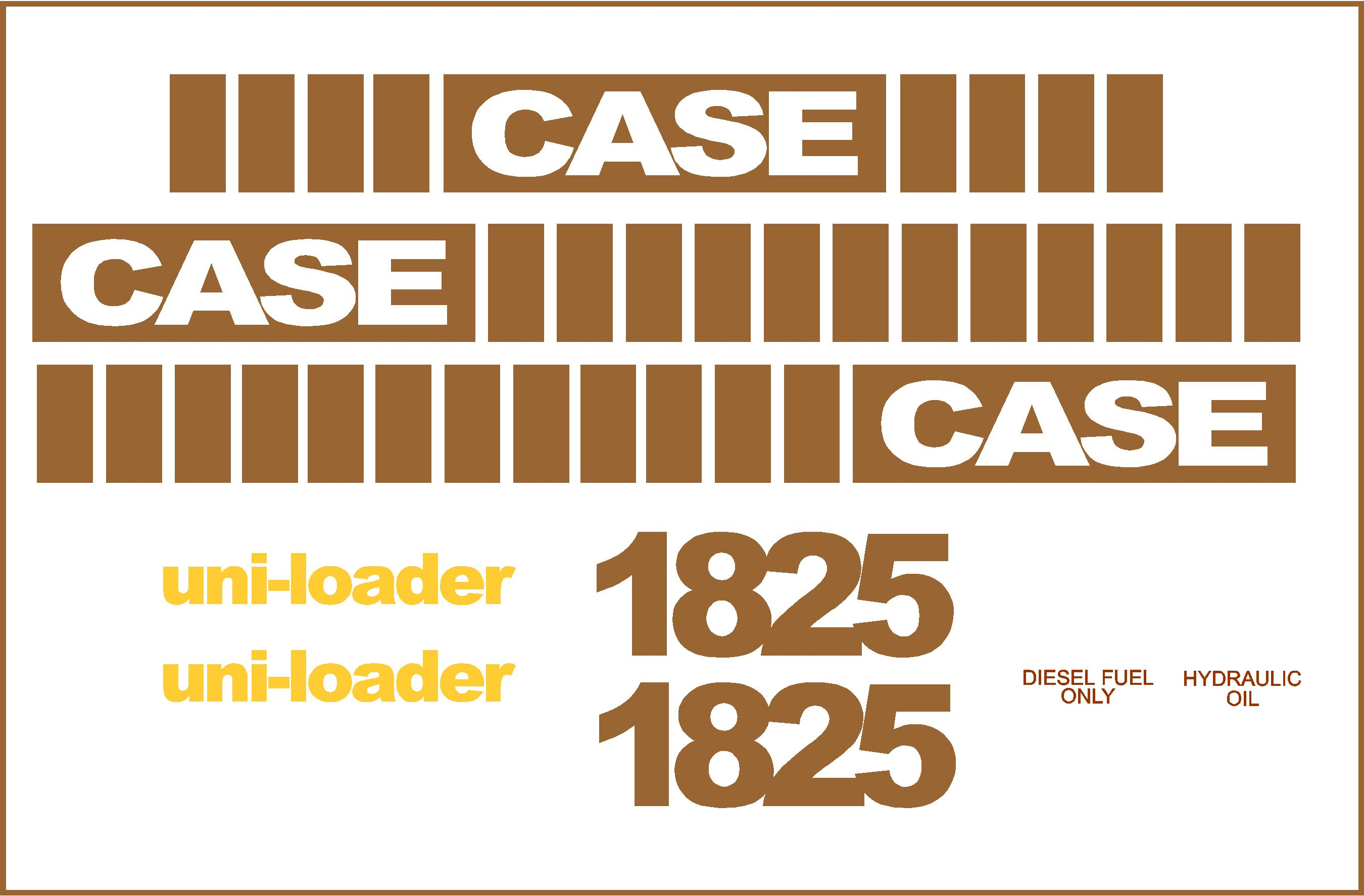 7250 Case Decal Kits : Case uni loader new replacement decal kit