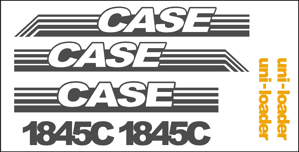 case 1845c skid loader new replacement decal sticker kit ns