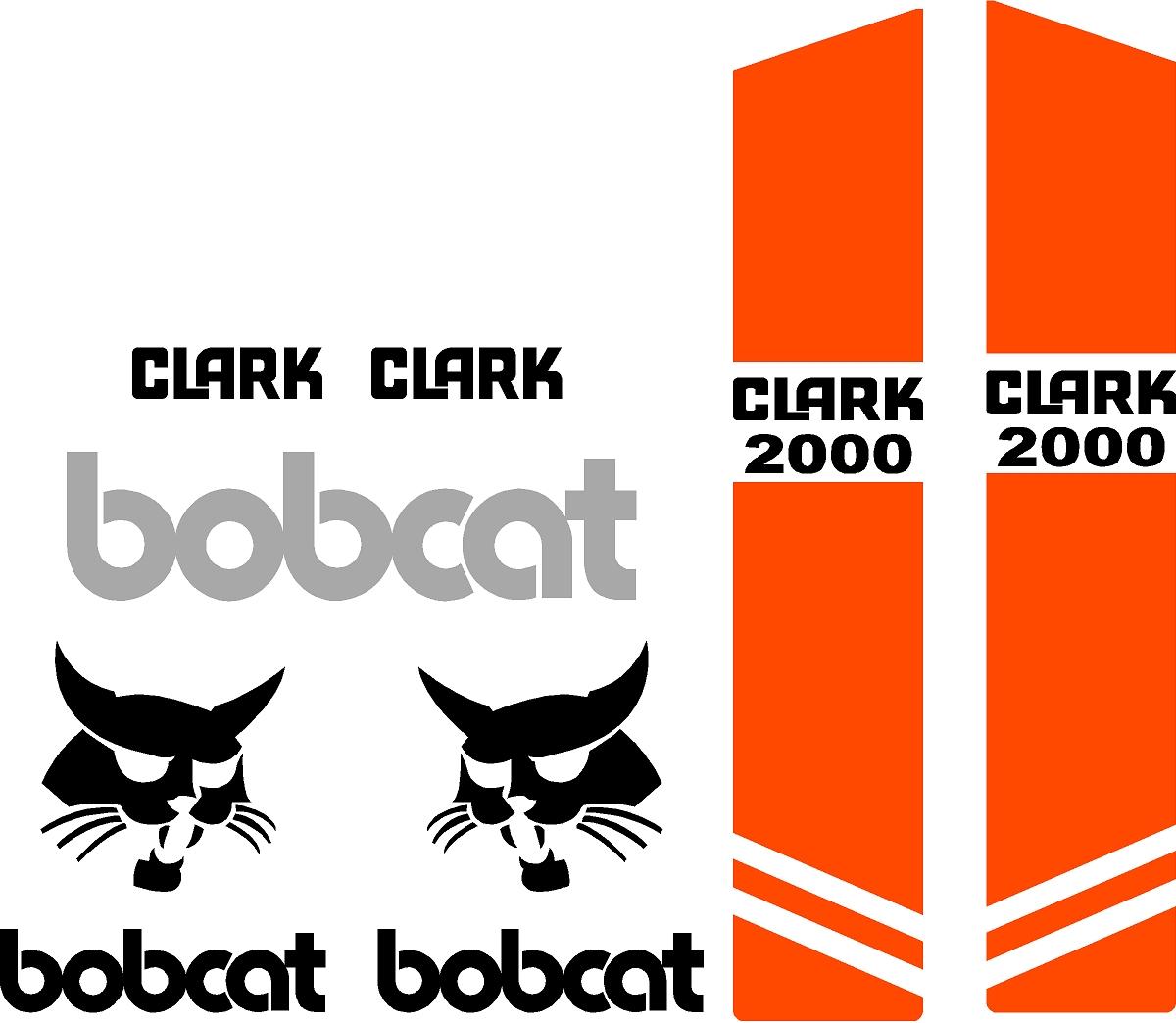 Decal Kits Product : Bobcat clark replacement decal kit