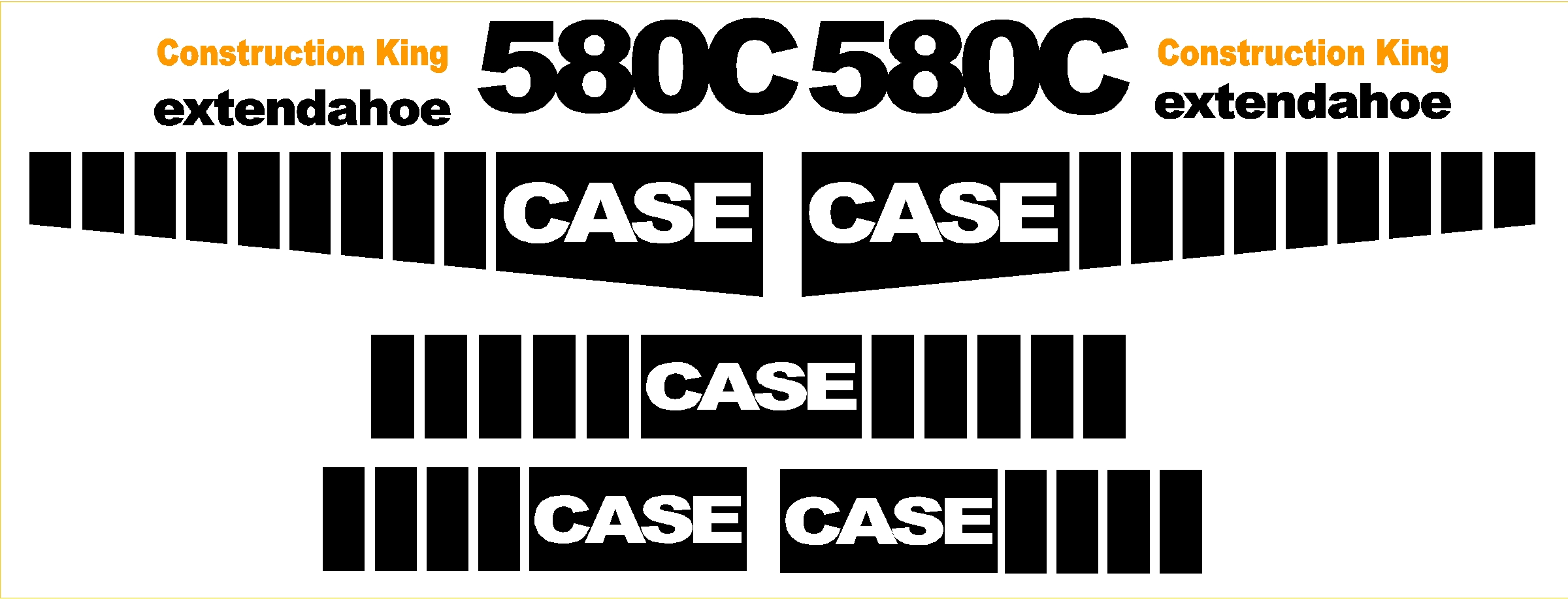 Heavy Equipment Decals : Case c new replacement decal kit machine decals